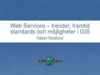 Web Services – trender, framtid standards och möjligheter i GIS