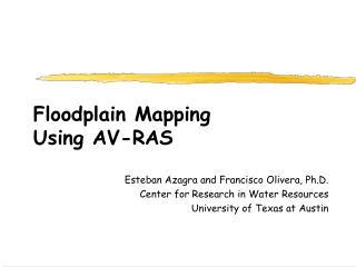 Floodplain Mapping Using AV-RAS