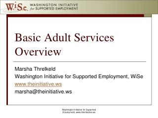 Basic Adult Services Overview