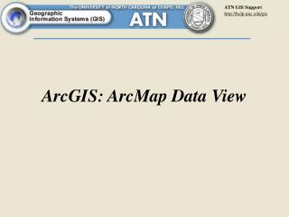 ArcGIS: ArcMap Data View