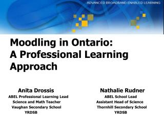Moodling in Ontario: A Professional Learning Approach