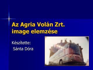 Az Agria Volán Zrt.  image elemzése