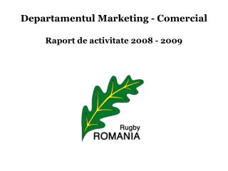 Departamentul Marketing - Comercial