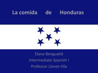 La comida      de      Honduras