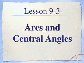 Lesson 9-3