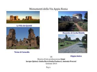Monumenti della Via Appia Roma