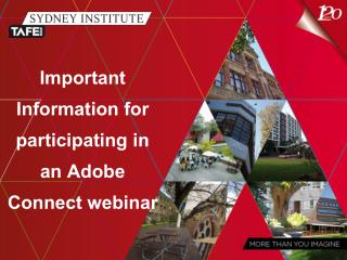 Important Information for participating in an Adobe Connect webinar