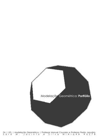 FA | UTL | Modelação Geométrica | Professor Manuel Couceiro e Professor Pedro Januário