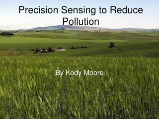 Precision Sensing to Reduce Pollution