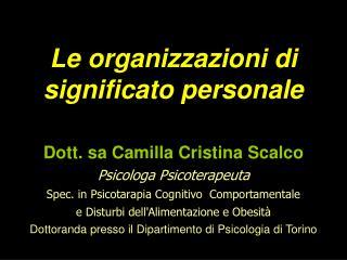 Le organizzazioni di significato personale