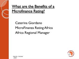 What are the Benefits of a Microfinance Rating?