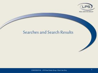 Searches and Search Results