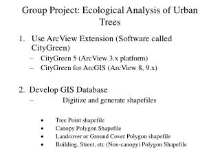 Group Project: Ecological Analysis of Urban Trees