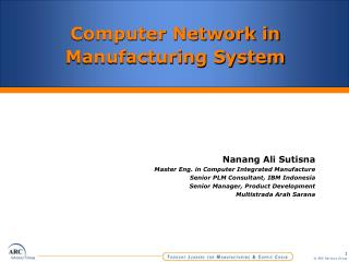 Computer Network in Manufacturing System