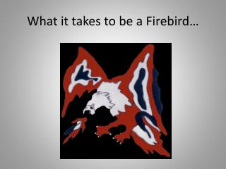 What it takes to be a Firebird…