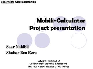 Mobili -Calculator Project presentation