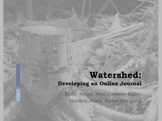 Watershed: Developing an Online Journal