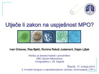 Utječe li zakon na uspješnost MPO?