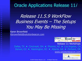 Oracle Applications Release 11 i Release 11.5.9 WorkFlow
