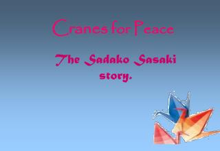 Cranes  for Peace