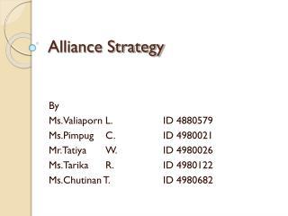 Alliance Strategy