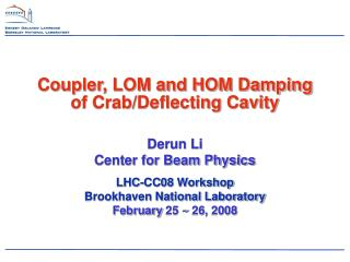 Coupler, LOM and HOM Damping of Crab/Deflecting Cavity