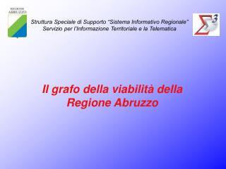 Il grafo della viabilità della Regione Abruzzo