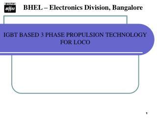 BHEL   Electronics Division, Bangalore
