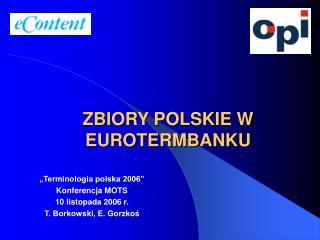 ZBIORY POLSKIE W EUROTERMBANKU