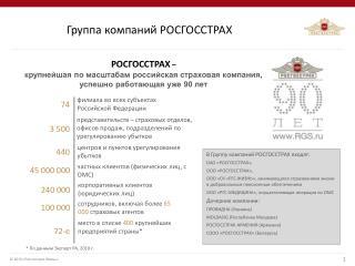 Группа компаний РОСГОССТРАХ