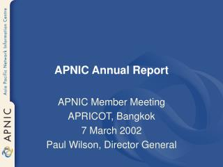 APNIC Annual Report