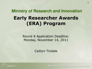 Ministry of Research and Innovation