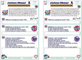 Talleres Eros de Educación Sexual             Proyecto Oroel de Salud