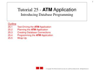 Tutorial 25 -  ATM Application Introducing Database Programming