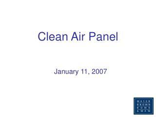 Clean Air Panel