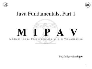 Java  Fundamentals, Part 1