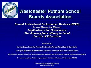 Westchester Putnam School  Boards Association