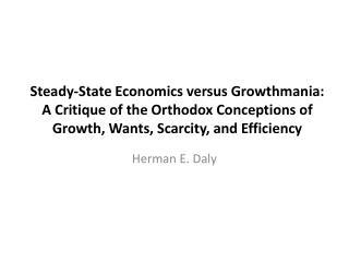Herman E. Daly