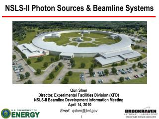NSLS-II Photon Sources  Beamline Systems