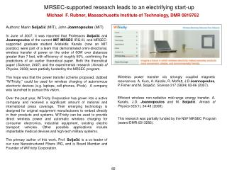 MRSEC-supported research leads to an electrifying start-up