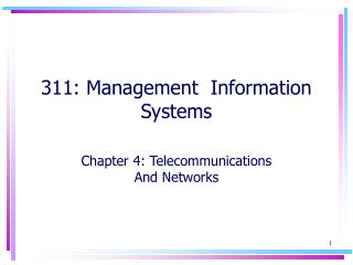311: Management  Information Systems