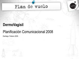 DermoVagisil Planificaci n Comunicacional 2008 Santiago, Febrero 2008