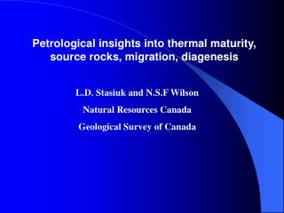 Petrological insights into thermal maturity, source rocks, migration, diagenesis