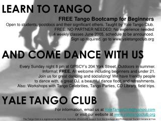 FREE Tango Bootcamp for Beginners