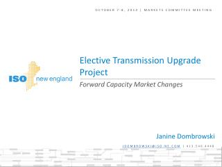 Elective Transmission Upgrade Project