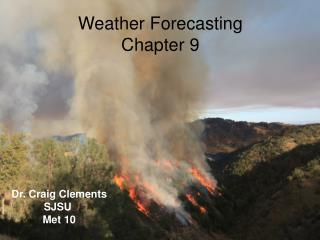 Weather Forecasting Chapter 9