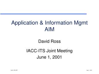 Application & Information Mgmt AIM