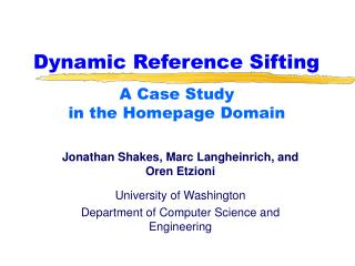 Dynamic Reference Sifting