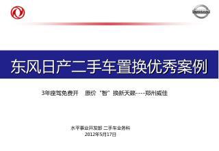 东风日产二手车置换优秀案例