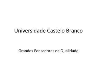 Universidade Castelo Branco
